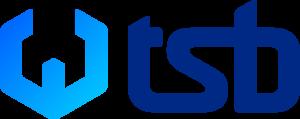 Logo TSB Facility - modré, trasparentní pozadí